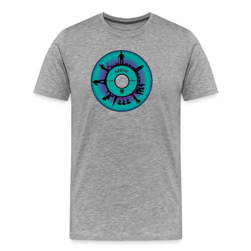 Narvik syvtommern - Premium T-skjorte for menn