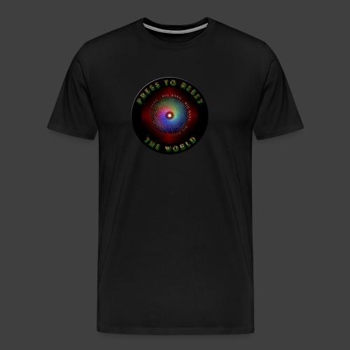 Press to reset the world - Men's Premium T-Shirt