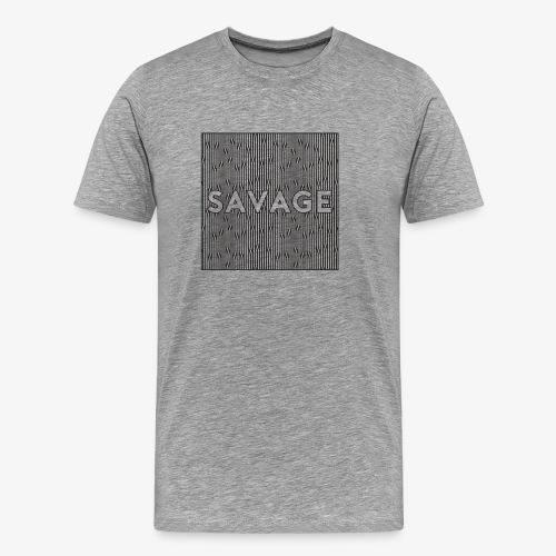savage || wild - Männer Premium T-Shirt