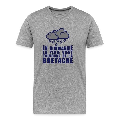 en normadie pluie vient bretagne nuage - T-shirt Premium Homme