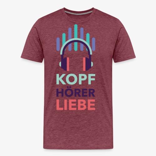 kopfhoererliebe bunt - Männer Premium T-Shirt