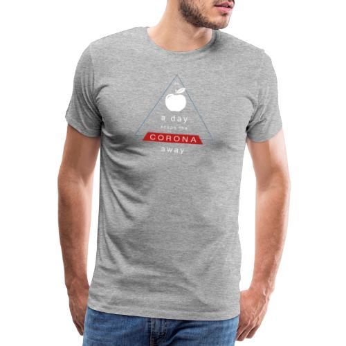 an APPLE a day keeps the CORONA away - Männer Premium T-Shirt