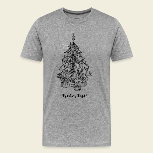 Frohes Fest! - Christbaum - Männer Premium T-Shirt