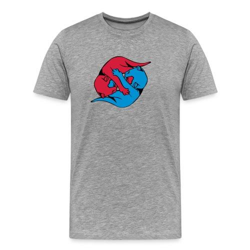 Yin and Yang Kitties - Men's Premium T-Shirt