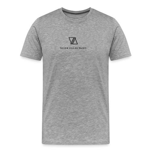 7V LOGO BLACK - Camiseta premium hombre
