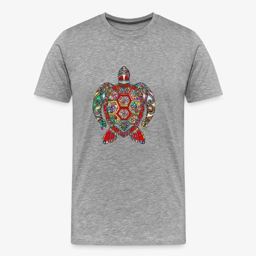 Tortue de mer Hindi - T-shirt Premium Homme