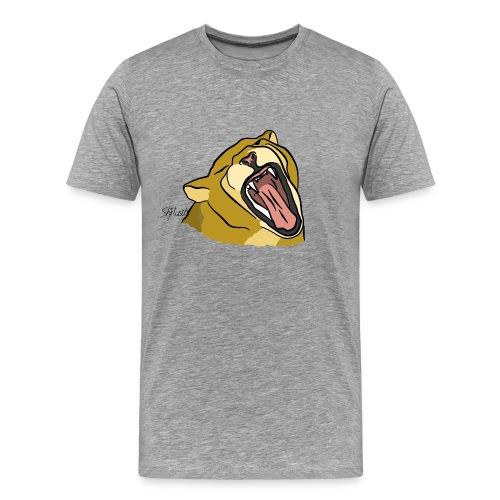Gähnender / brüllender Löwe - Männer Premium T-Shirt