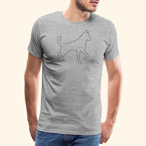 Konturgrafik Schäferhund - Männer Premium T-Shirt