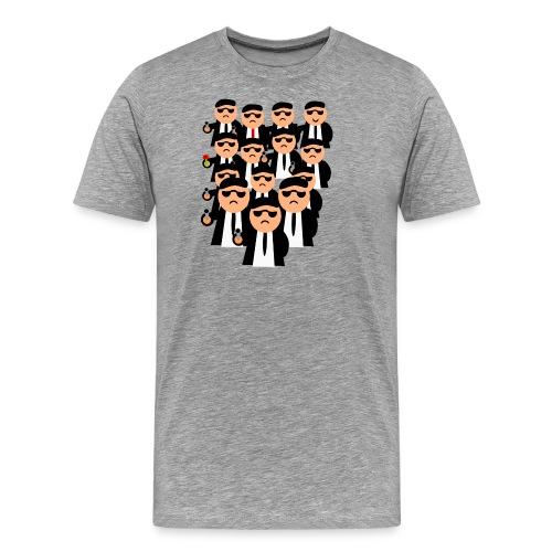 Männer in Anzügen und Pistolen - Männer Premium T-Shirt