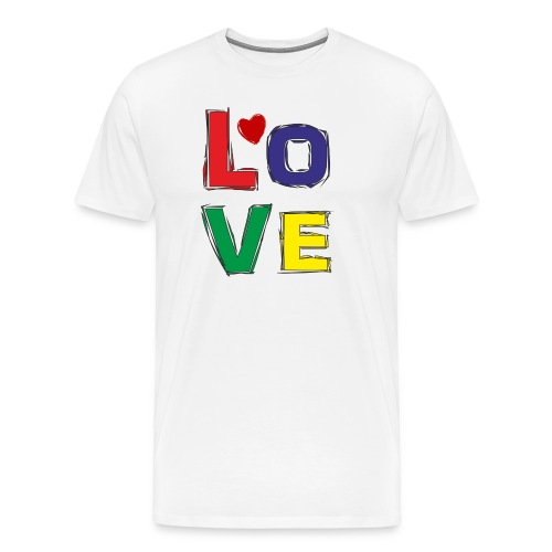 LOVE - Männer Premium T-Shirt