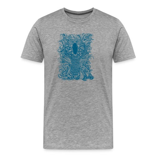 Snake-and-Water-in-Blue - Camiseta premium hombre