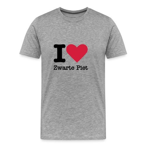 I Love Zwarte Piet - Mannen Premium T-shirt
