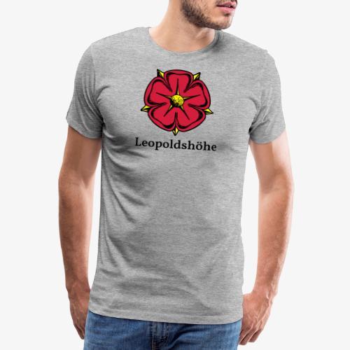 Lippische Rose mit Unterschrift Leopoldshöhe - Männer Premium T-Shirt