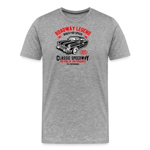 Roadway Legend Build for Speed - Mannen Premium T-shirt