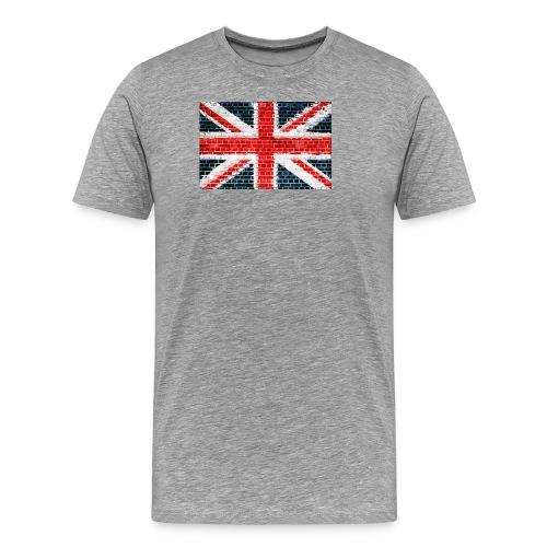 Union Jack Brick Wall - Men's Premium T-Shirt
