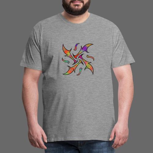 Hypnotisches Tribalmuster - Männer Premium T-Shirt