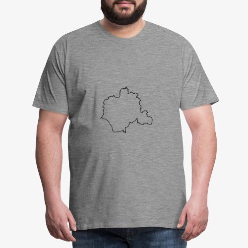Kontur des Kreises Lippe - Männer Premium T-Shirt