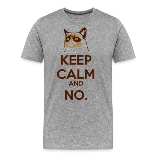 Grumpy Cat Keep Calm - Maglietta Premium da uomo