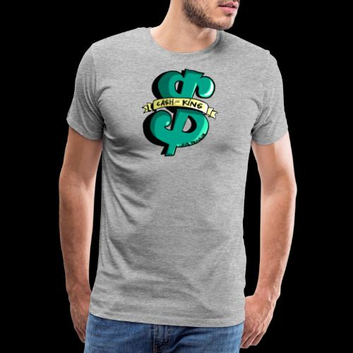 Cash is King groen met geel - Mannen Premium T-shirt