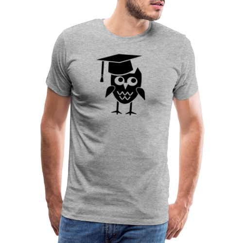 Eule mit Doktorhut Geschenk Promotion Dissertation - Männer Premium T-Shirt