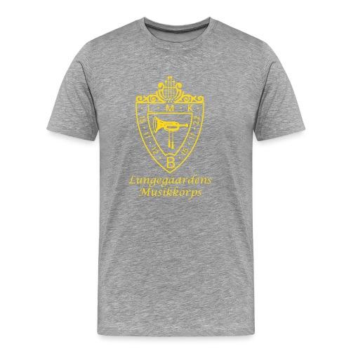 LMK LOGO med tekst navn - Premium T-skjorte for menn