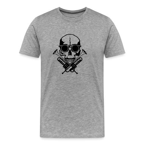 tete de mort skull crane trompette musiq - T-shirt Premium Homme