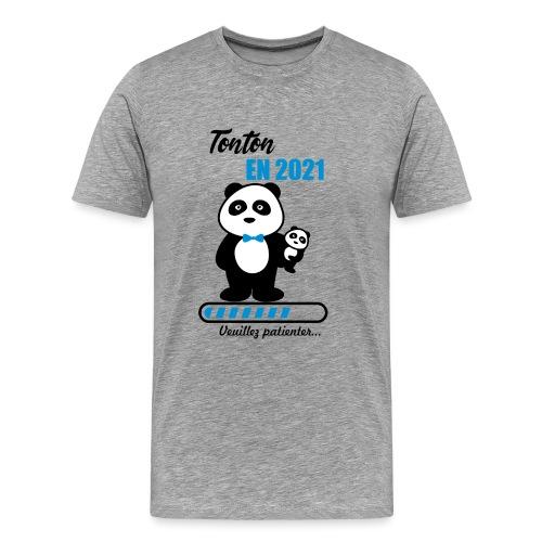 tonton en 2021,futur tonton,bientôt oncle - Men's Premium T-Shirt