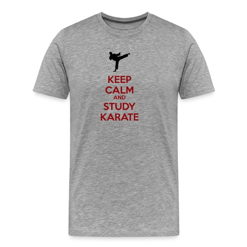 Keep Calm and Study Karate - Men's Premium T-Shirt