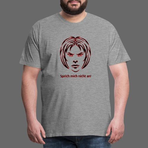 Nicht ansprechen! in schwarz - Männer Premium T-Shirt
