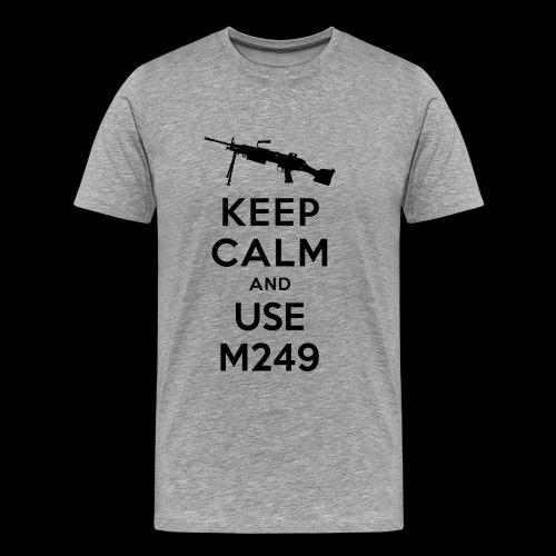 keep_calm_m249_black - Herre premium T-shirt