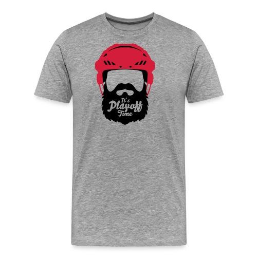 Eishockey Playoff Bart - Hockey Beard Helmet 1 - Männer Premium T-Shirt