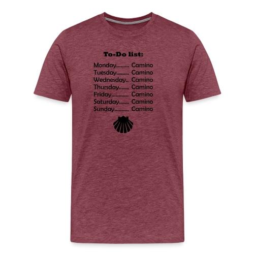 To-do list: Camino - Herre premium T-shirt