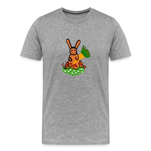 Rabbit with carrot - Men's Premium T-Shirt