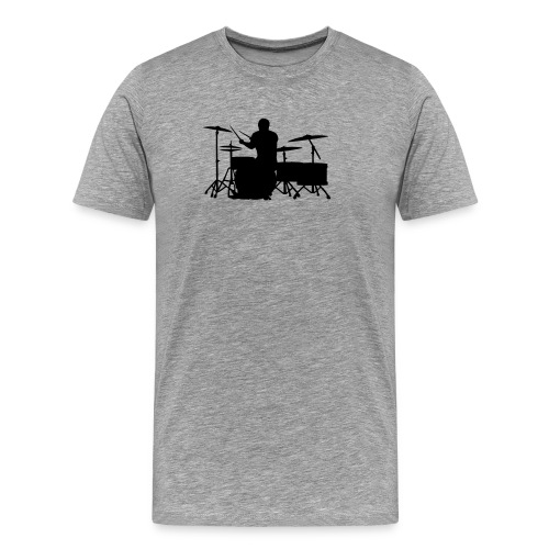 Glatze Drummer on Greater Set - Männer Premium T-Shirt