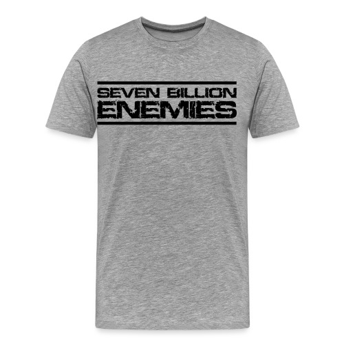 Seven Billion Enemies - NOIR - T-shirt Premium Homme