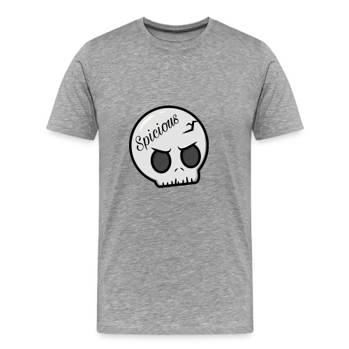 Spicious skull logo - Mannen Premium T-shirt
