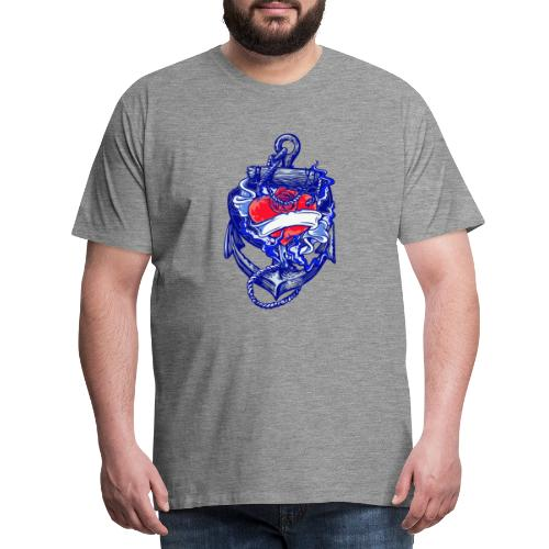 Seemanns Look Ankerherz - Männer Premium T-Shirt