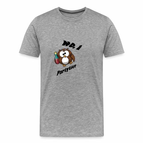 Partytier Eule - Männer Premium T-Shirt