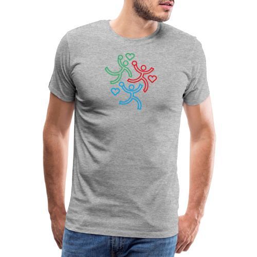 Les 3 handballeurs - T-shirt Premium Homme