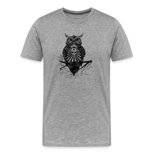 Hibou Psychédélique - T-shirt Premium Homme