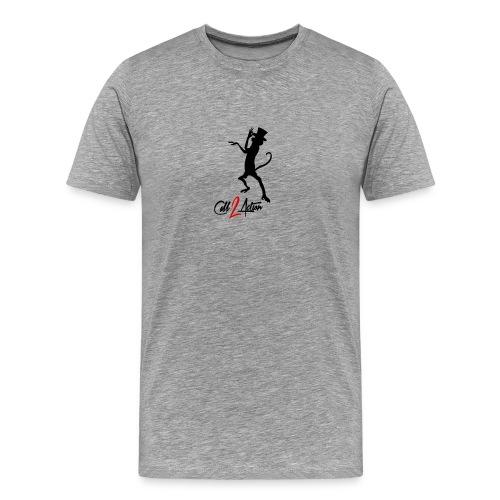 Call 2 Action | schwarz | Zylinder - Männer Premium T-Shirt