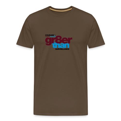 courage-gr8erthan-surveil - Men's Premium T-Shirt