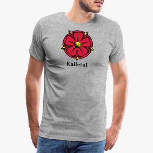 Lippische Rose mit Unterschrift Kalletal - Männer Premium T-Shirt