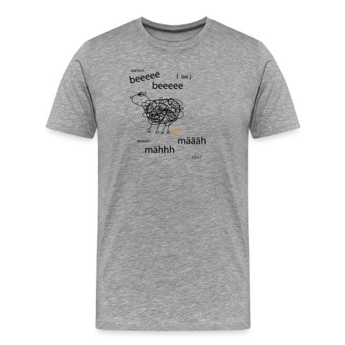 Tierlaut zweisprachig - Männer Premium T-Shirt