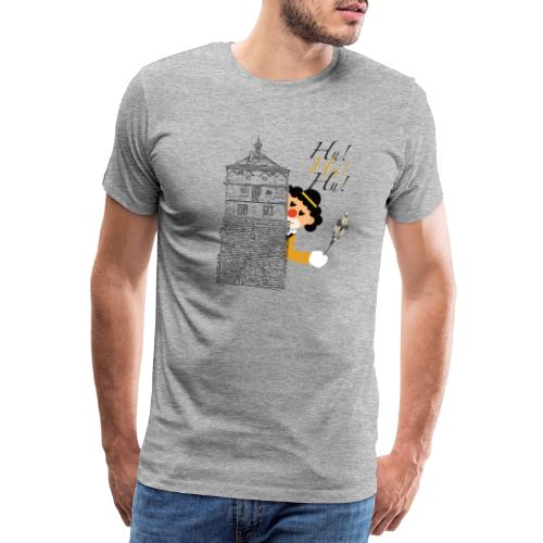 Hu! Hu! Hu! Schwarzgelber Clown am Schwarzen Tor - Männer Premium T-Shirt