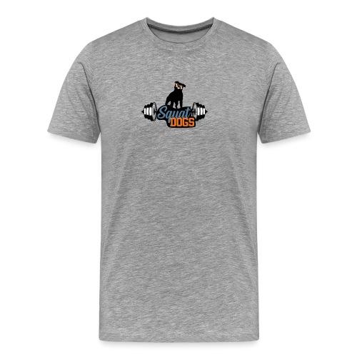 Awesome squat dog - Premium-T-shirt herr