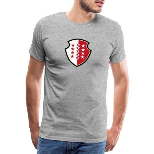 Bouclier Valaisan - Männer Premium T-Shirt
