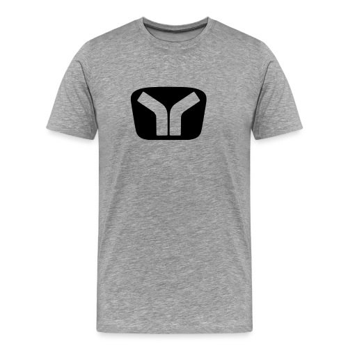 Yugo Logo Black-Transparent Design - Men's Premium T-Shirt