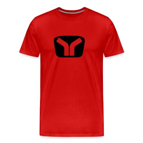 Yugo Logo Black-Transparent Design - Men's Premium T-Shirt