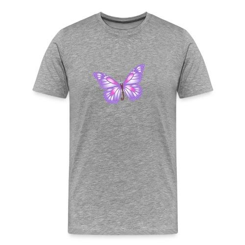 mariposa bb lila - Camiseta premium hombre